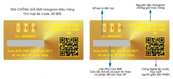 Tem Qrcode hologram laser 7 màu tích hợp truy xuất nguồn gốc 2