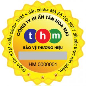 Tem chống giả điện tử SMS Hologram in số seri liên tục 4
