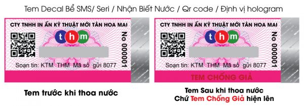 Tem Truy Xuất Nguồn Gốc Kết Hợp Chống Hàng Giả Điện Tử SMS Và Định Vị Hologram 3