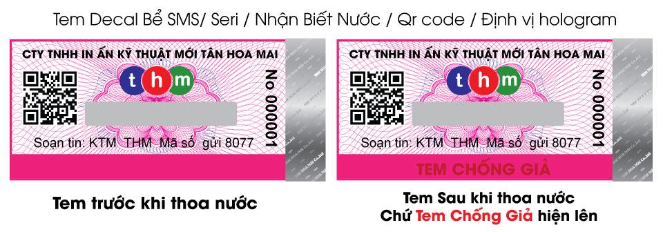 Công nghệ tem chống hàng giả điện tử sms nhận biết nước