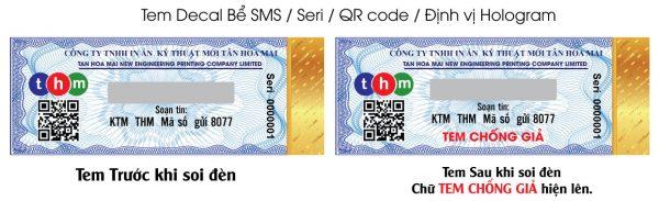 Tem Truy Xuất Nguồn Gốc Kết Hợp Chống Hàng Giả Điện Tử SMS Và Định Vị Hologram 4