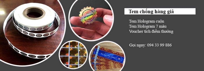 các loại tem chống hàng giả phổ biến trên thị trường