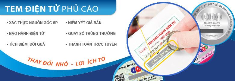 Tem chống hàng giả điện tử sms phủ cào Tân Hoa Mai
