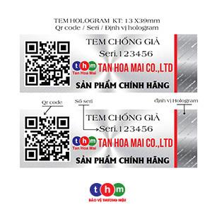 Tem Chống Hàng Giả QrCode SMS Hologram Phát Sáng In Số Serial 3