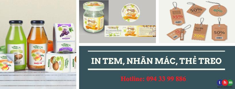in tem nhãn dán hộ nhựa chai lọ - in tem dán bao bì Tân Hoa Mai