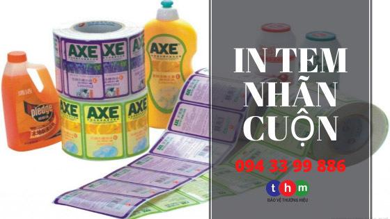 in tem nhãn cuộn Tân Hoa Mai - Tem nhãn mỹ phẩm được làm từ giấy decal Couche