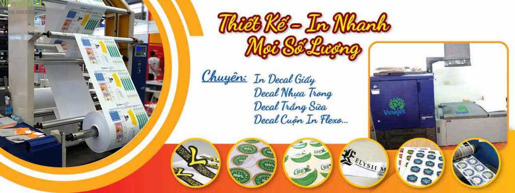 xưởng in tem nhãn mác bao bì số lượng ít, giá rẻ, miễn phí giao hàng tại Tân Hoa Mai