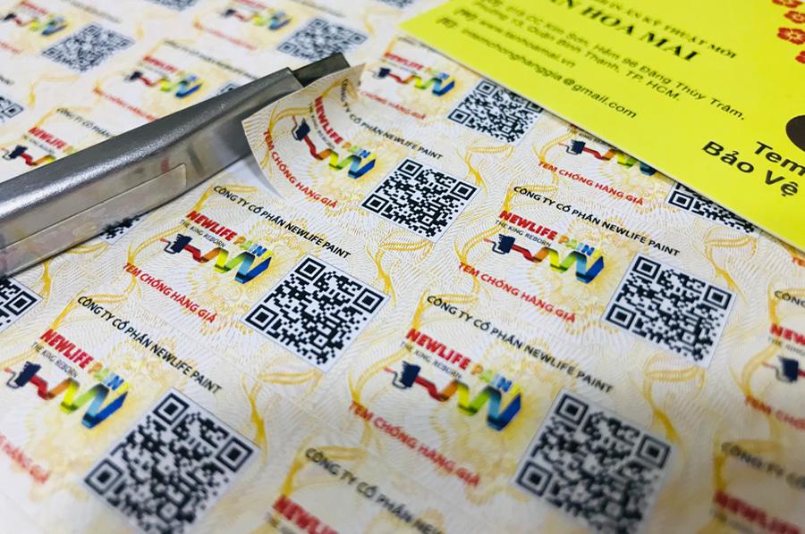 Tân Hoa Mai là cung cấp tem truy xuất nguồn gốc với nhiều mẫu mã, chống hàng giả hiệu quả