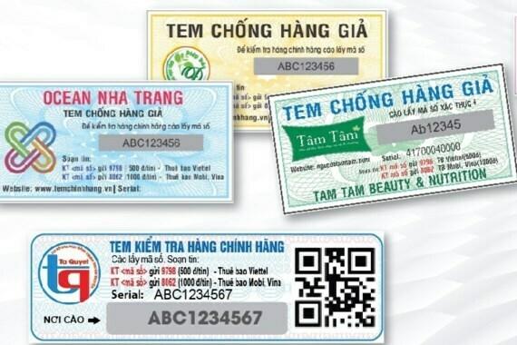 Tem chống giả điện tử sms - Tem chống giả Tân Hoa Mai