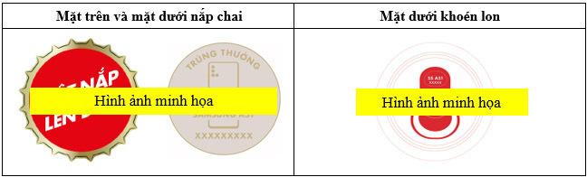 giải nhì bia sài gòn đỏ - in tem trúng thưởng Tân Hoa Mai