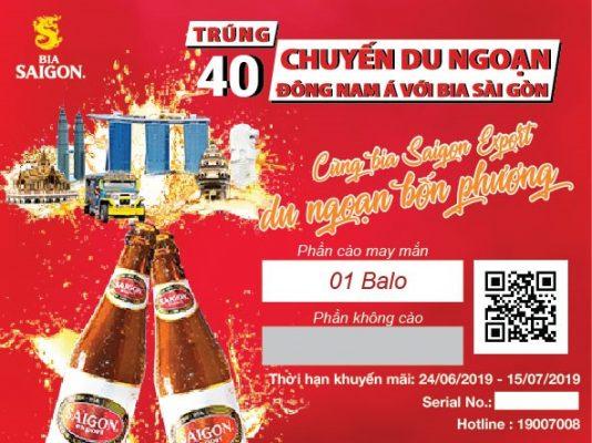 Thẻ Cào Trúng Thưởng Bia Sài Gòn 3