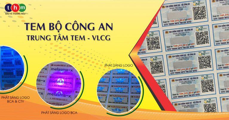tem bộ công an trung tâm tem & vật liệu chống giả
